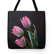 3 Tulips Tote Bag