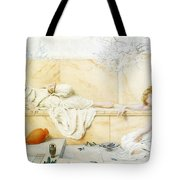 Two Classical Figures Reclining Henry Ryland Tote Bag