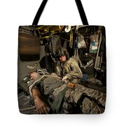U.s. Army Specialist Practices Giving Tote Bag