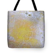3. V2 Yellow And White Bubble Glaze Painting Tote Bag