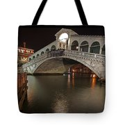 Venice By Night Tote Bag