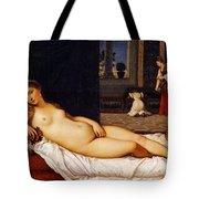 Venus Of Urbino Tote Bag