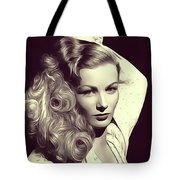 Veronica Lake, Vintage Actress Tote Bag