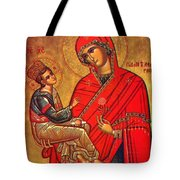 Virgin And Child Painting Art Tote Bag