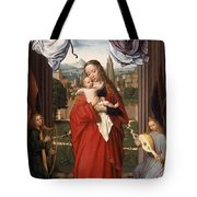 Virgin And Child With Four Angels Tote Bag