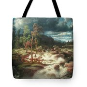 Waterfall In Smaland Tote Bag