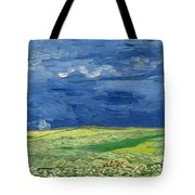 Wheat Field Under Thunderclouds Tote Bag