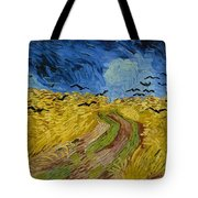 Wheat Field With Crows Tote Bag