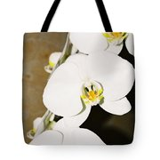 3 White Orchids Tote Bag