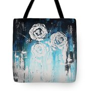 3 White Roses Tote Bag