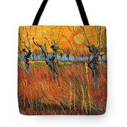 Willows At Sunset Tote Bag