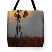Windmill At Dusk Tote Bag