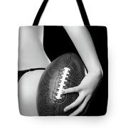 Woman With A Football Tote Bag