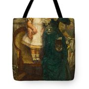 Woman With Child And Goldfish Tote Bag