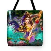 Women Warrior Tote Bag