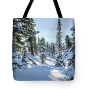 Amazing Landscape With Frozen Snow-covered Trees In Winter Morning  Tote Bag
