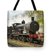 Steam Train At Rest. Tote Bag