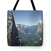 306754 Yosemite Valley From Union Point  Tote Bag