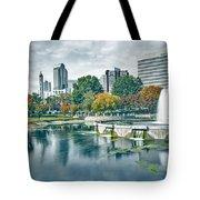 Charlotte North Carolina Cityscape During Autumn Season Tote Bag