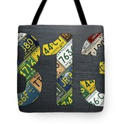 313 Area Code Detroit Michigan Recycled Vintage License Plate Art Tote Bag
