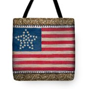 33 Star American Flag. Painting Of Antique Design Tote Bag