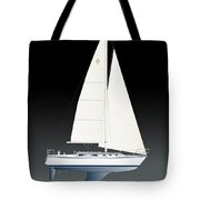 33b Gallant Sailing Tote Bag