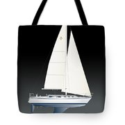 33b Gallant Sailing Tote Bag