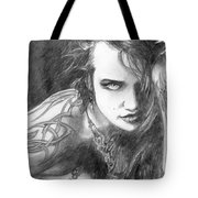 Ink And Shadow Tote Bag