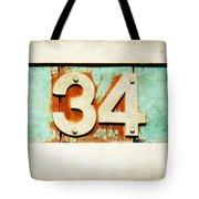 34 On Weathered Aqua Tote Bag