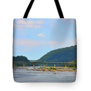 340 Bridge Harpers Ferry Tote Bag by Bill Cannon