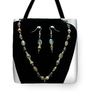 3509 Amber Striped Onyx Set Tote Bag