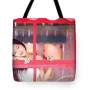 351943 Closed Eyes Asian Women Model Tote Bag