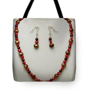 3536 Freshwater Pearl Necklace And Earring Set Tote Bag
