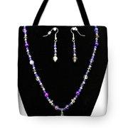 3546 Purple Veined Agate Set Tote Bag