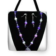 3547 Purple Veined Agate Set Tote Bag