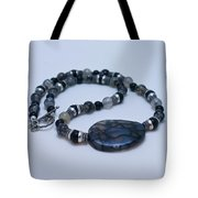 3552 Cracked Agate Necklace Tote Bag