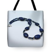 3553 Lapis Lazuli Necklace And Earrings Set Tote Bag
