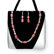 3570 Cherry Quartz Czech Glass Set Tote Bag