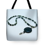 3577 Kambaba And Green Lace Jasper Necklace Tote Bag