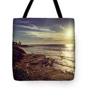 Sunset On La Jolla Beach, California, Usa  Tote Bag