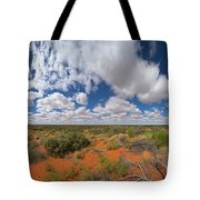 360 Of Clouds Over Desert Tote Bag