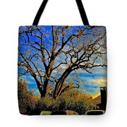 365 012716 Ancient Valley Oak And Parking Tote Bag