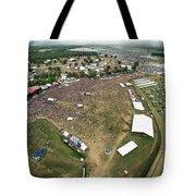 Bonnaroo Music Festival Aerial Photography Tote Bag