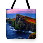 Original Landscape Paintings Tote Bag