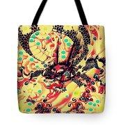 3d Color Dragon Tote Bag