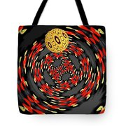 3d Concentric Planet  Tote Bag