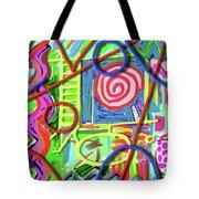 3d Jazz Tote Bag