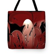 3d Red Abstract Tote Bag