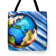 3d Render Of Planet Earth 10 Tote Bag