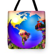 3d Render Of Planet Earth 18 Tote Bag